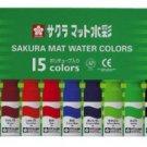 Sakura mat watercolor, 15 tubes, 12ml, MW15PE (Japan Import)