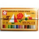 Sakura - Color pastel crayon 12 colors with rubber string LP12R
