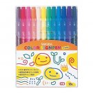 Sakura Color color felt-tip pen twin 12 color