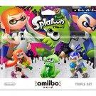 Nintendo Wii U 3DS Amiibo Squid / Girl / Boy 3set Super Smash Bros.