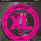 DAddario ECB81 Chromes Bass Guitar Strings Light 45-100 Long Scale