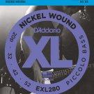DAddario EXL280 Nickel Wound Piccolo Bass Strings 20-52 Long Scale