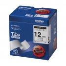 Brother Industries Ze tape laminate tape (white / black) 12mm 5 pack of TZe-231V