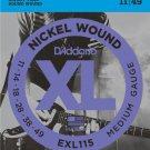 DAddario EXL115 Electric Guitar Strings Blues/Jazz Rock