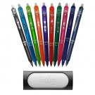 Pilot FriXion Ball Knock Gel Ink Pen 10 Colors Set 0.5mm With Gray Eraser