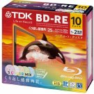 TDK Bluray Disc 25 gb BD-RE rewritable 2x Speed Printable HD discs 10 pack