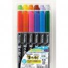 Kuretake Pocket Color Brush Pen - 12 Color Set