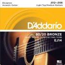 D Addario &Co Inc - EJ14 80/20 Bronze Acoustic Guitar Strings/Medium Bottom