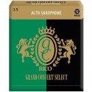 Rico DAddario &Co. Inc Grand Concert Select Alto Sax Reeds Strength 3.5 10-pack
