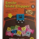 Ohto Smile Slide Clipper Paper Clip - Small - Vivid Color Set - Pack of 10