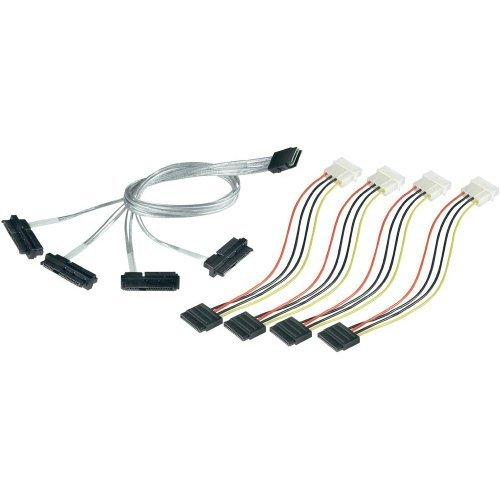 ADAPTEC - 1M Int Mini-sas X4 SFF-8087 To (4) Int Sas X1 SFF-8482 Fanout Cable