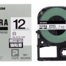 KINGJIM - SS12KW - tepra pro - tape cartridge - 12 mm black ink