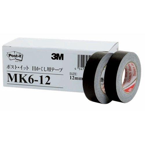 Sumitomo (3M) - Post-it (R) 6 tape roll pack 12mm x 10m black