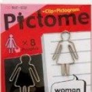 PICTOME - Funny Paper Clip 8 Pieces Woman