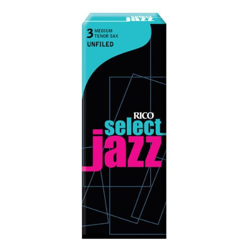 Rico - DAddario &Co. - Select Jazz Tenor Sax Reeds Unfiled Strength 3 Hard 5pack