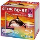 TDK Blu-ray BD-RE Re-writable Disk 25GB 2x Speed 20 Pack Blu-ray Disc