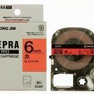 KINGJIM - SC-6R - tape cartridge - black ink 6 mm