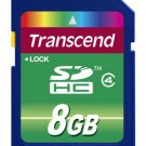 Transcend 8 GB High Speed SDHC Class 4 Flash Memory Card TS8GSDHC4
