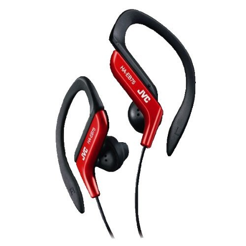JVC Victor In-ear Stereo Headphones for Sports | HA-EB75-R Red