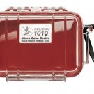 Pelican 1010 Micro Case Red with Clear Lid