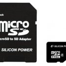 Silicon Power Flash memory card (microSDHC / SD adapter included) - 8 GB