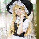 LUGANO - Touhou Project Marisa Kirisame cosplay costume wig & net