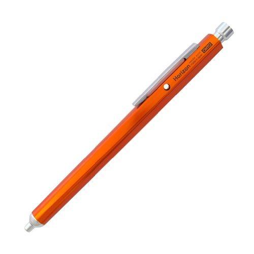Ohto Horizon Aluminum Hexagon Barrel Needlepoint Ballpoint Pen NBP-587H, Orange