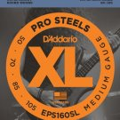 DAddario EPS160SL ProSteels Bass Guitar Strings Medium 50-105 Super Long  Scale