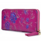Handcrafted Floral Leather Wallet with Tassel