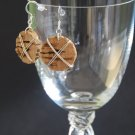 Wire Wrapped Wine Cork Earrings