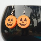 Jack-O-Lantern Wine Cork Halloween Earrings