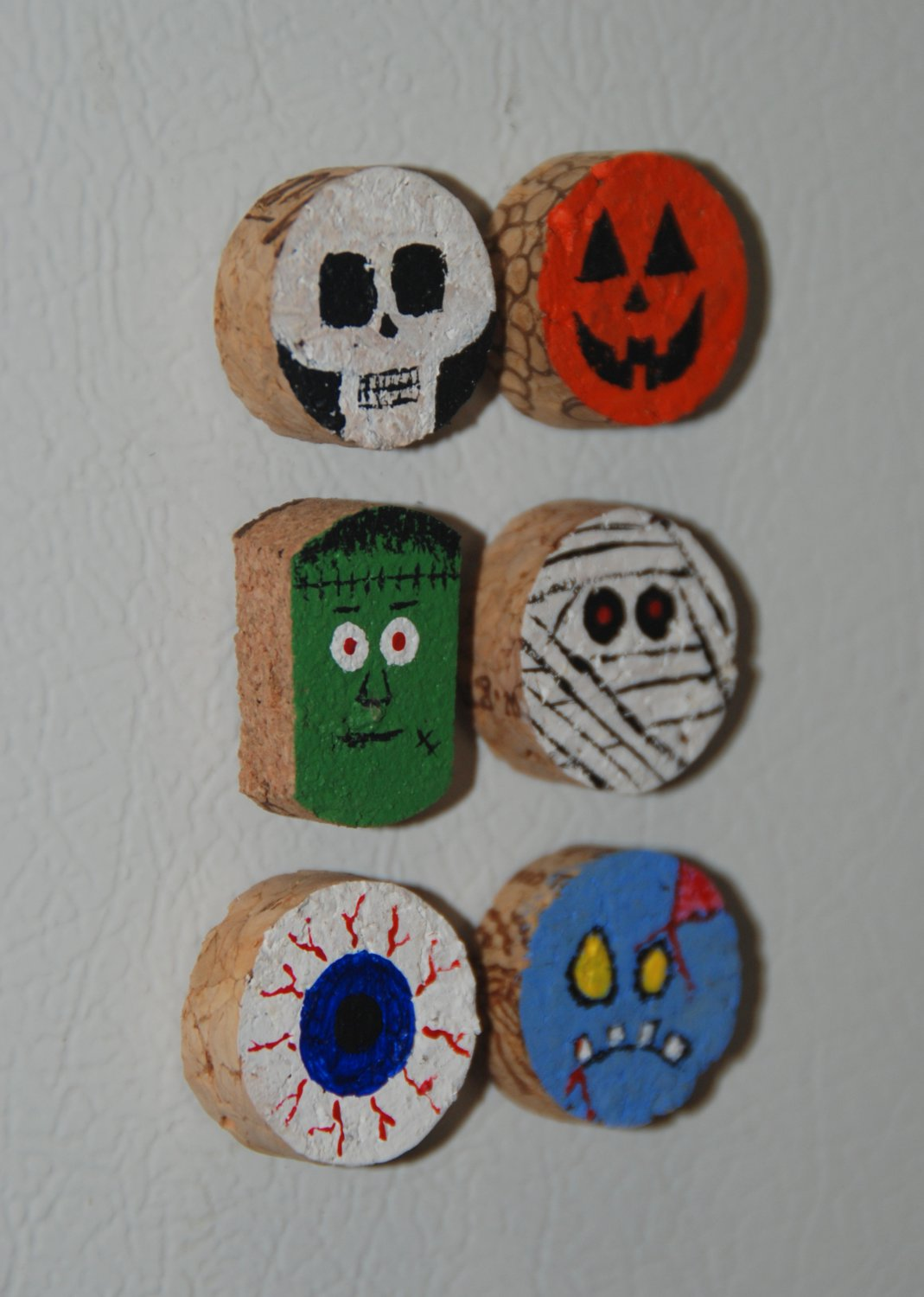 Halloween Wine Cork Magnets