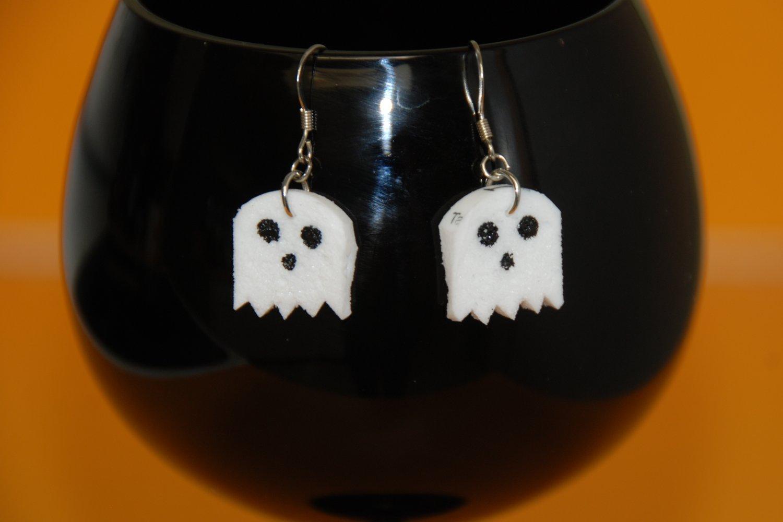 Ghost Wine Cork Earrings Halloween