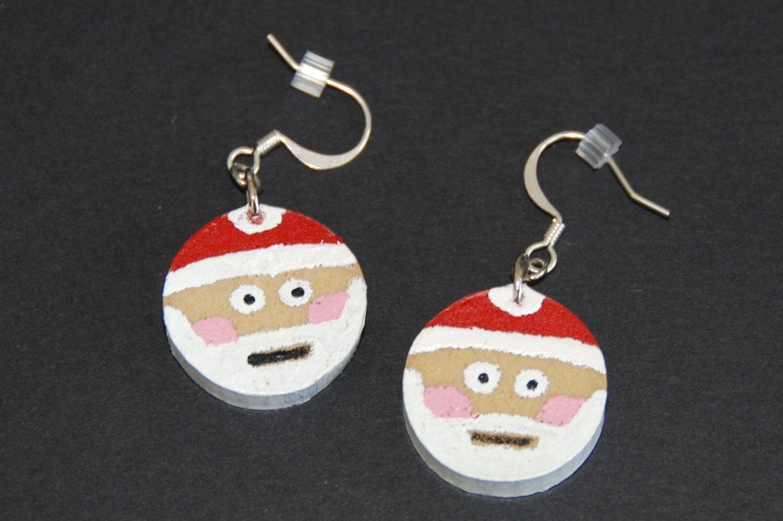 Santa Claus Wine Cork Earrings