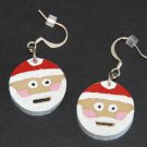 Santa Claus Wine Cork Earrings