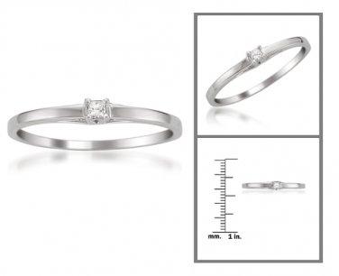 10k White Gold Princess-cut Diamond Accent Promise Ring (K, I1)