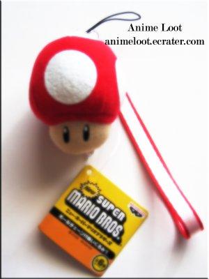 Super Mario Bros. Mushroom Plush Strap