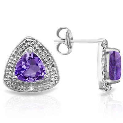 1.88 CT Amethyst & 2 PCS White Diamond