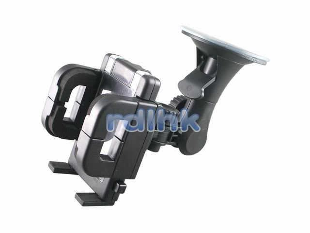 BLACK UNIVERSAL WINDSHIELD MOUNT WITH 360 DEGREE SWIVEL (RDL-WM-100B)