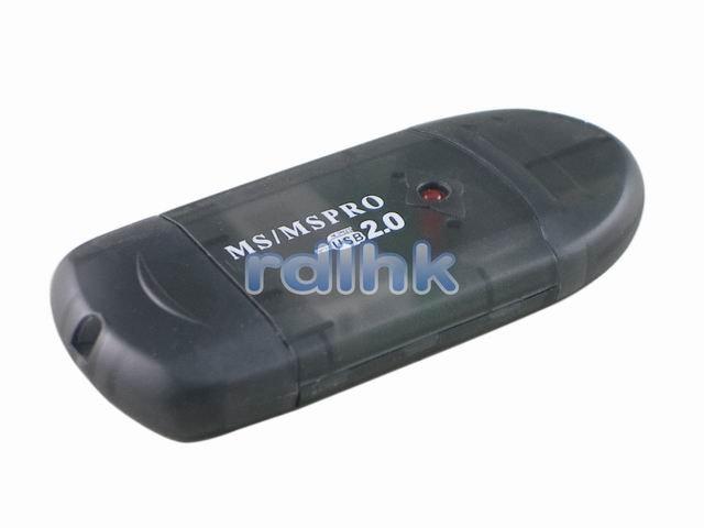 BLACK USB 2.0 CARD READER FOR MS/MS PRO