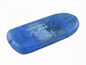 BLUE USB 2.0 CARD READER FOR MS/MS PRO
