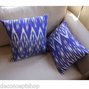 Ikat Silk Pillow cover set