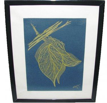 Name of the artwork : Golden leaves