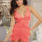 Stretch Mesh Garter Slip with Lace Trim
