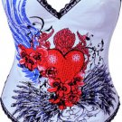 Flying Heart Burlesque Corset