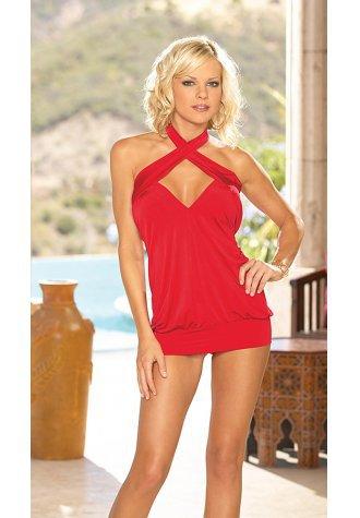 Criss Cross Sex Mini Dress