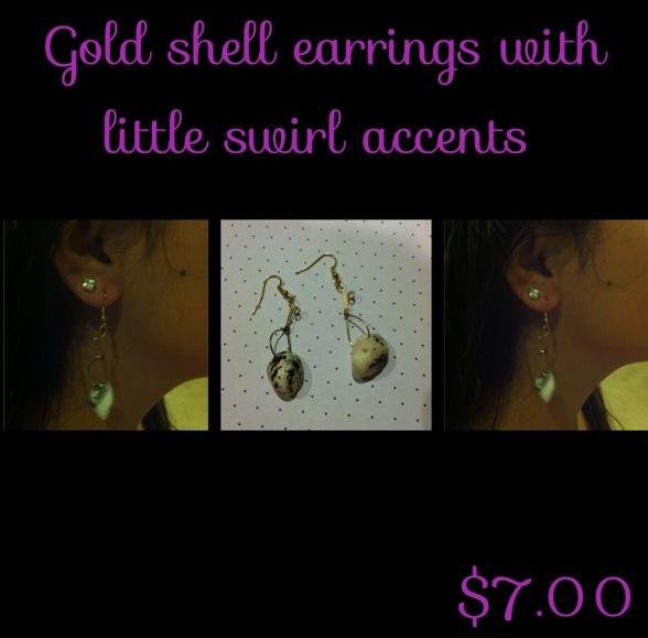 Kupe'e Shell Earrings With Swirls.