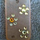 Orange Galaxy S3 Case.Orange & Yellow Gems
