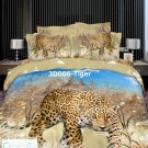 3D 100% cotton Tiger Printing Bedding Set (Queen Size )