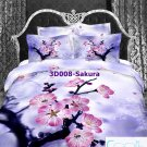3D 100% cotton Sakura Bedding Set (Queen Size )